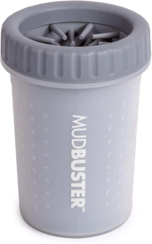 Dexas Popware for Pets Dexas MudBuster Portable Dog Paw Cleaner, Gray, Medium