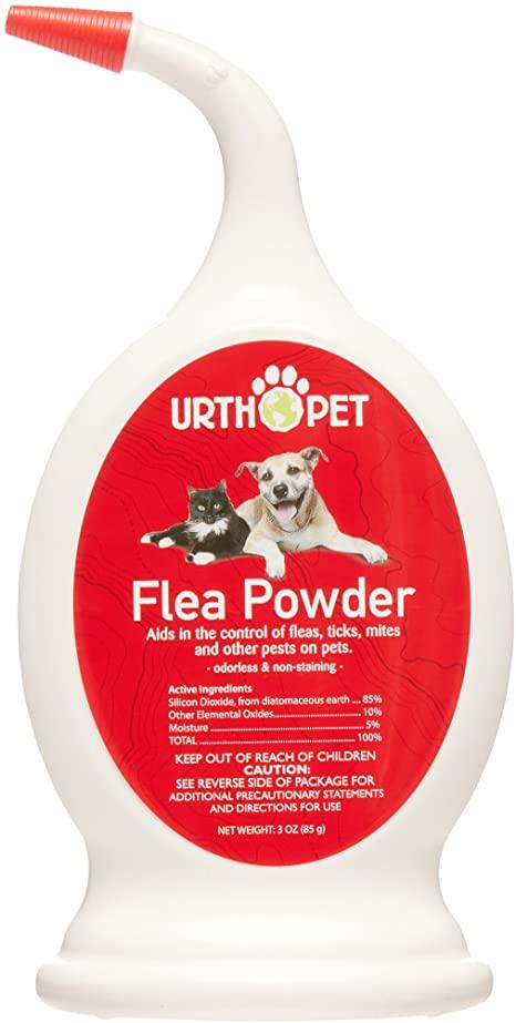 UrthPet Pet Flea Powder, 3-oz
