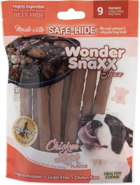 HEALTHY CHEWS Wonder Snaxx Stixx Chicken Liver Flavor Dog Treats, 9-count