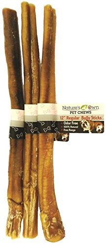 Nature's Own Odor-Free Premium Bully Sticks, 12-inch, 1-count