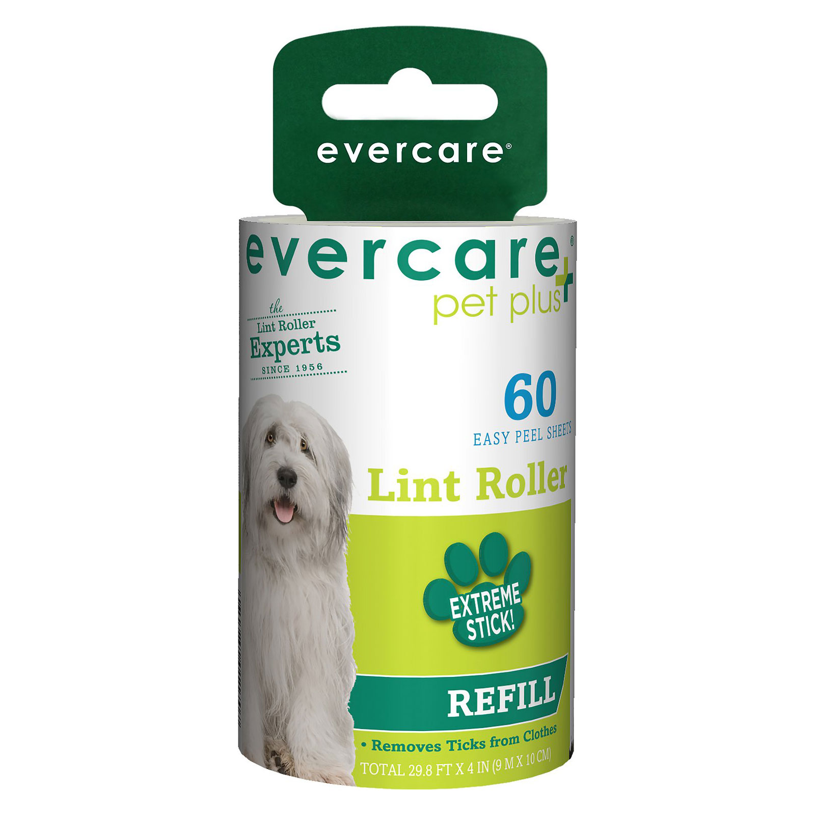 Evercare Pet Extreme Stick Refill 60 Sheet Lint Roller