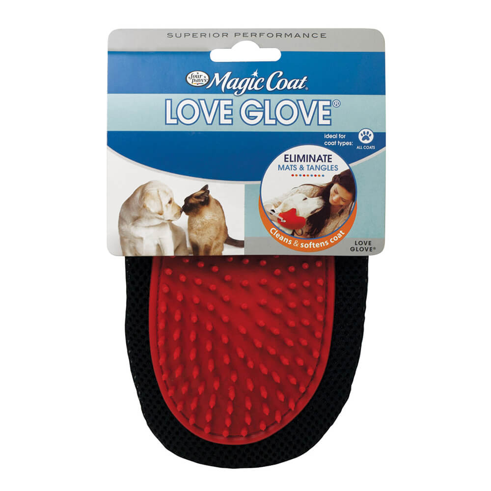 Four Paws Magic Coat Love Glove Grooming Mitt Image