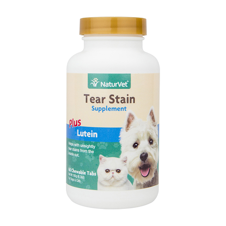 NaturVet Tear Stain Plus Lutein Cat & Dog Supplement, 60-count