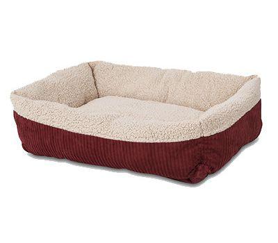 Petmate Self Warming Rectangular Lounger Pet Bed, Rust, 30x24-in