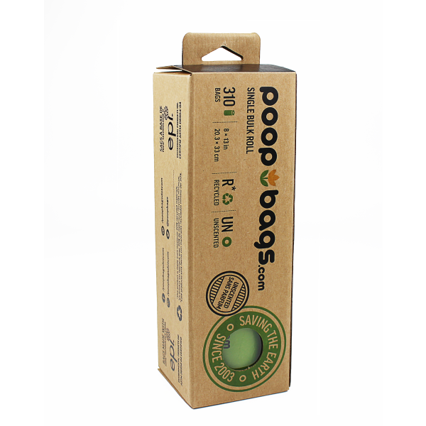 The Original Poop Bags Single Bulk Roll Dog Waste Bags, 310-count