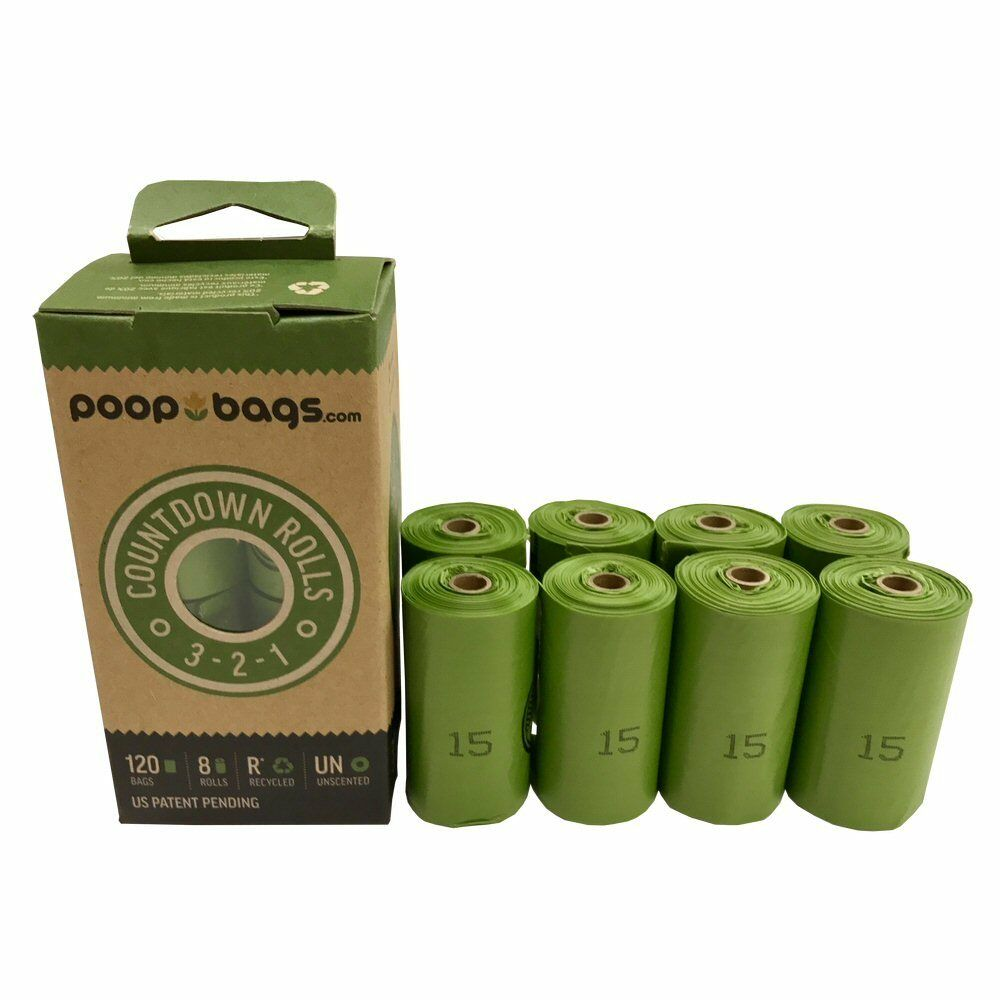 The Original Poop Bags Unscented Roll Dog Waste Bags, 120-count, 8-pk
