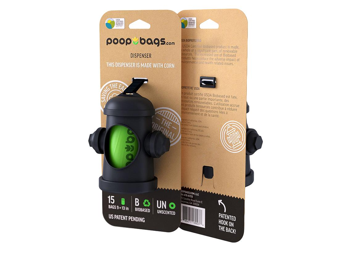 The Original Poop Bags Hydrant Dispenser for Dog Waste Bags