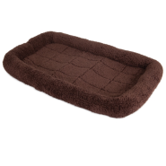 Precision SnooZZy 1000 Bolster Crate Pet Bed, Brown, 41x26-in