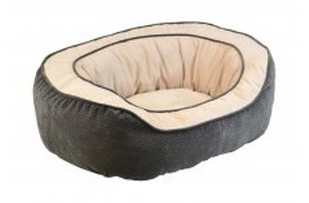 Precision SnooZZy Chevon Daydreamer Pet Bed, Gray, 26x22x10-in