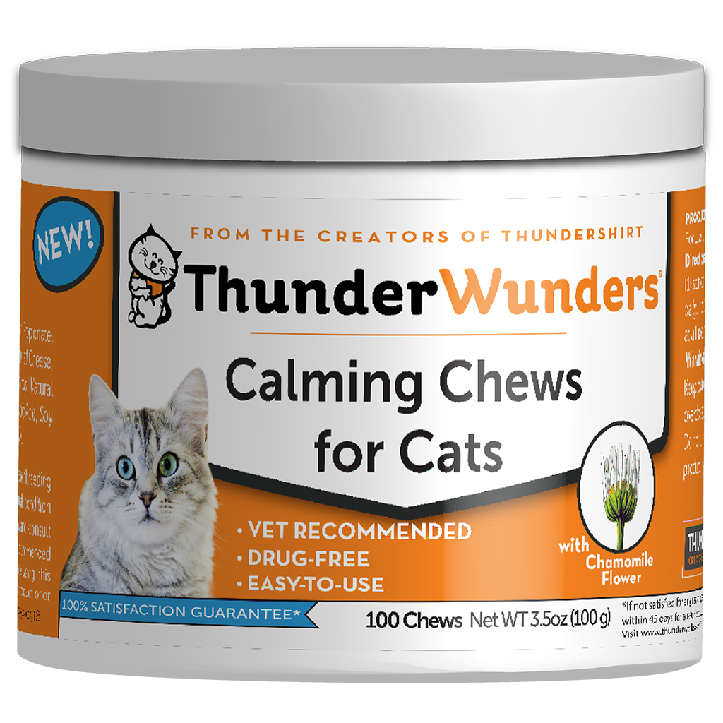 Thunder Wunders Calming Cat Chews, 100-Count