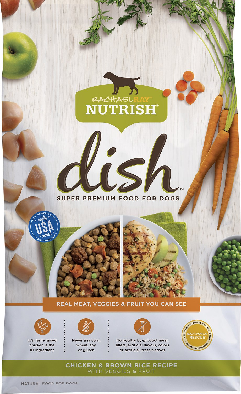 Rachael Ray Nutrish Dish Natural Chicken & Brown Rice Recipe Dry Dog Food Image