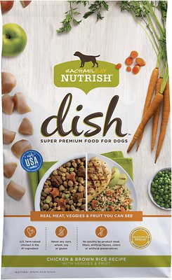 Rachael Ray Nutrish Dish Natural Chicken & Brown Rice Recipe Dry Dog Food, 3.75-lb bag
