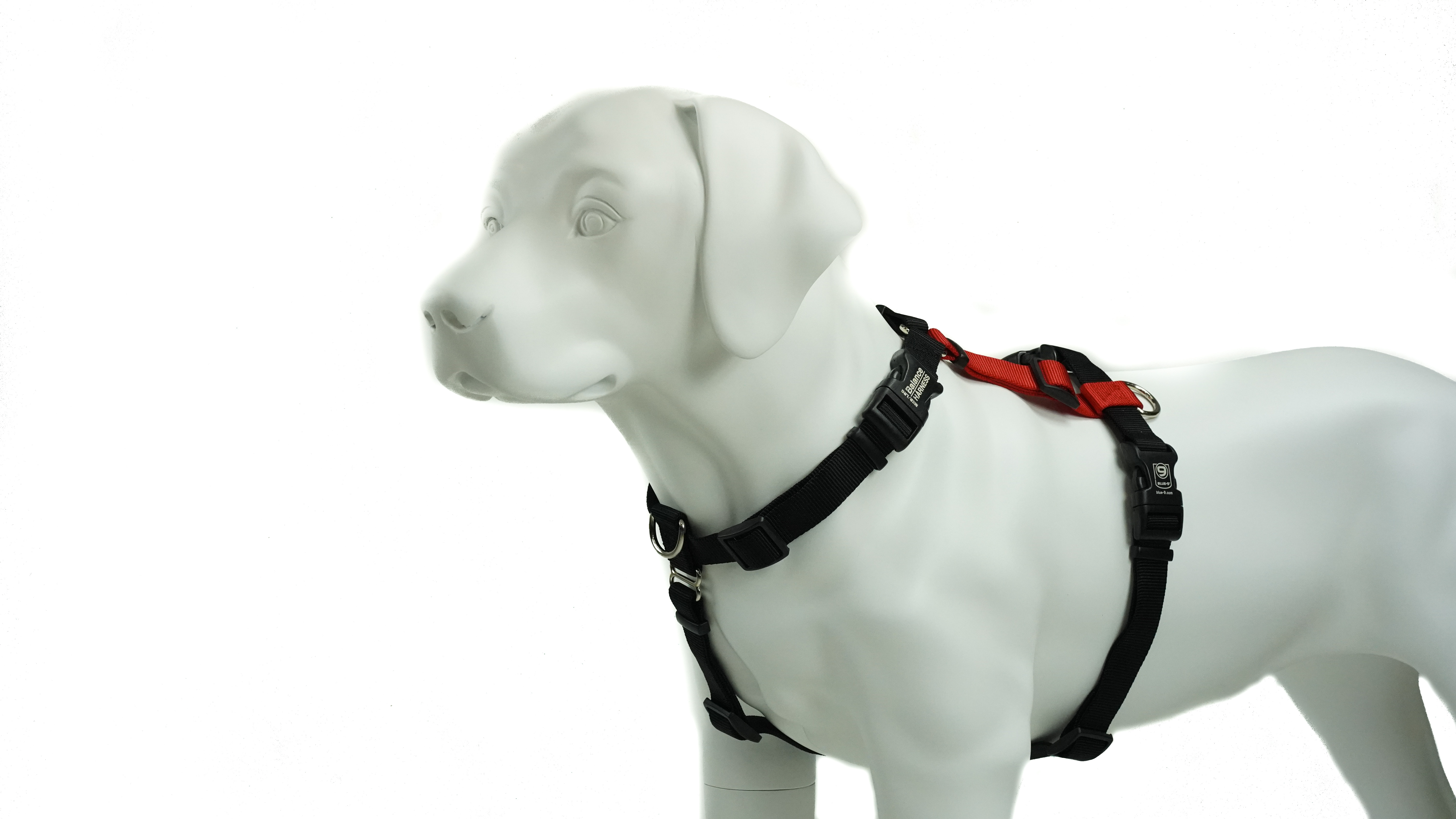 Blue-9 Balance Harness Buckle-Neck Dog Harness, Red, Small