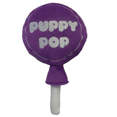 Lulubelles Power Plush Puppy Pop Dog Toy,  Grape, Large