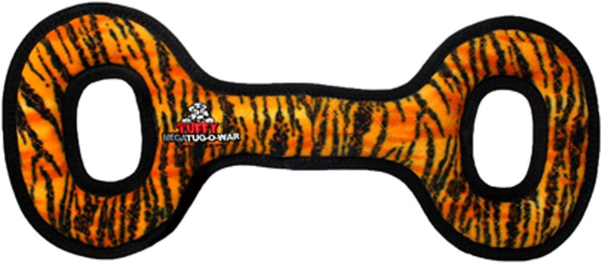 Tuffy's Mega Tug Oval Dog Toy, Tiger