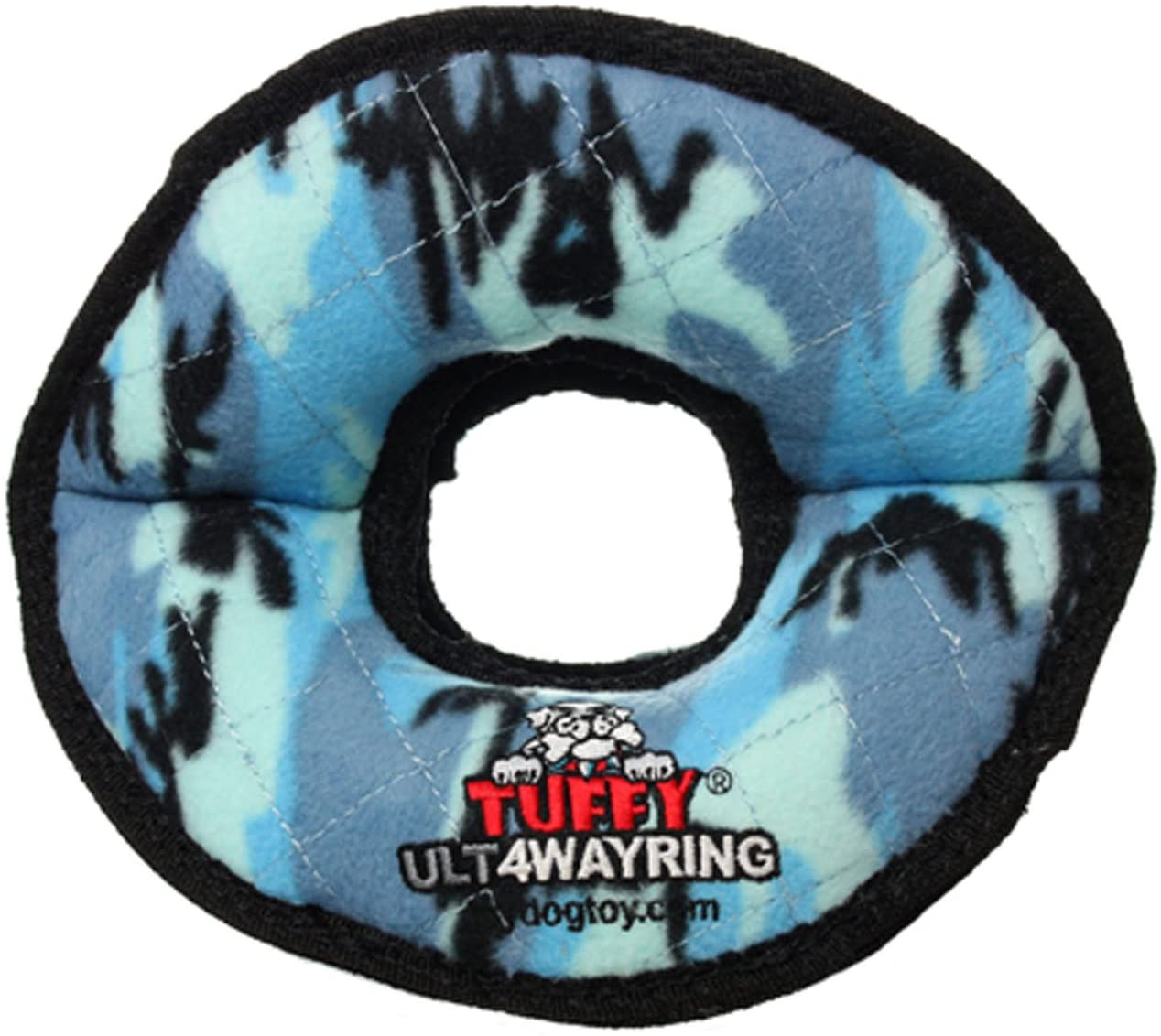 Tuffy's Ultimate 4-Way Ring Dog Toy, Camo Blue Image
