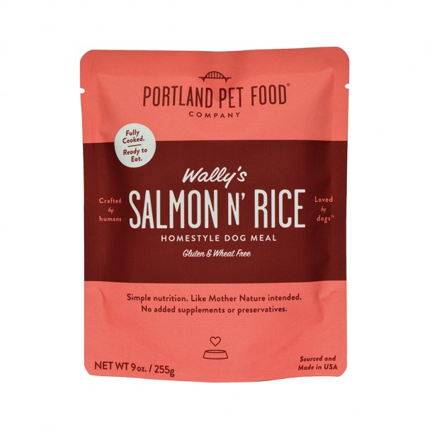 Portland Pet Food Company Wally's Salmon N' Rice Meal Wet Dog Food, 9-oz