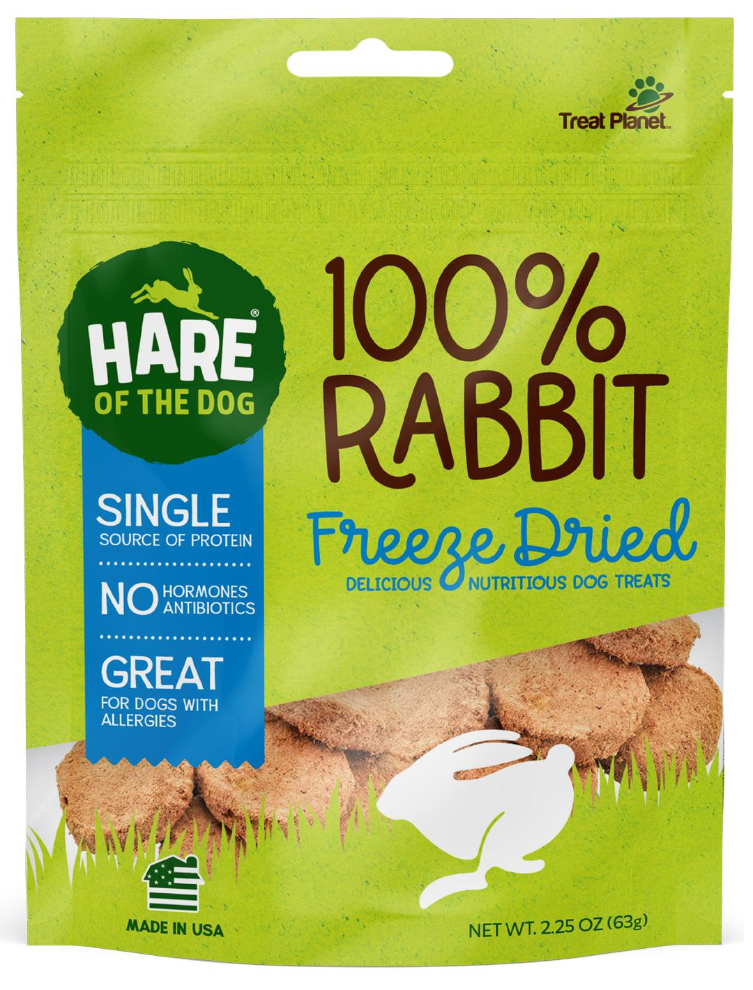 Hare of the Dog 100% Rabbit Freeze-Dried Dog Treats, 2.25-oz