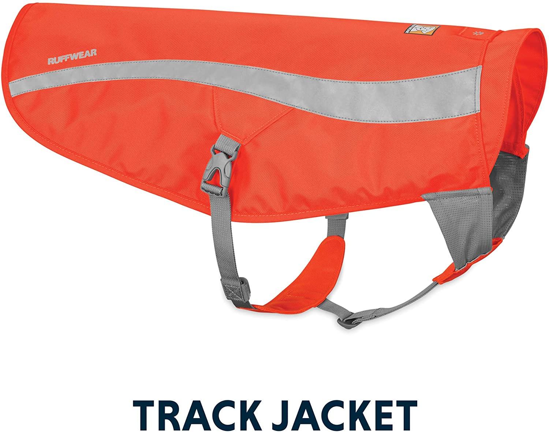 Ruffwear Track Reflective Dog Vest, Blaze Orange, XX-Small/X-Small