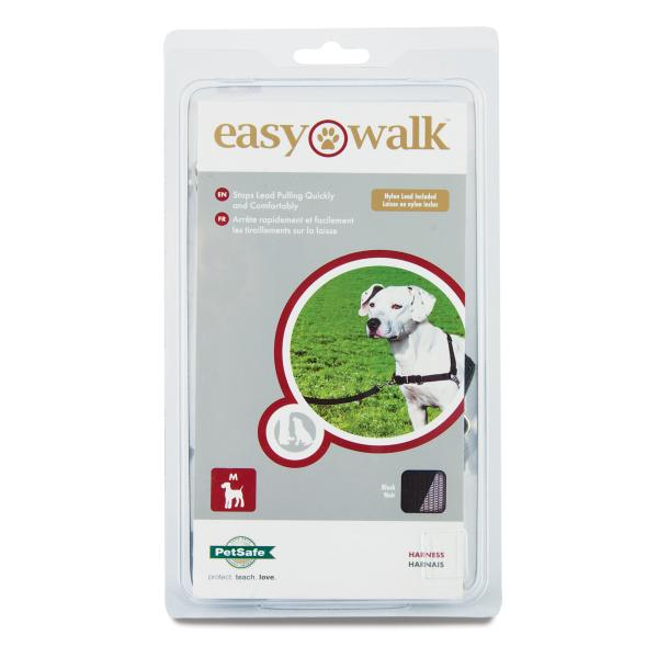 PetSafe Deluxe Easy Walk Dog Harness, Black, Medium