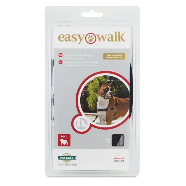 PetSafe Deluxe Easy Walk Dog Harness, Black, Medium/Large