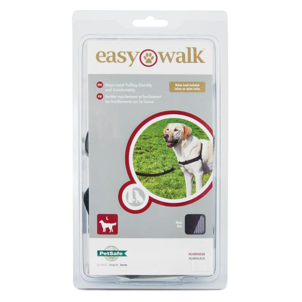 PetSafe Deluxe Easy Walk Dog Harness, Black, Large