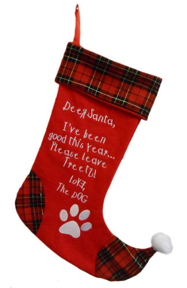 Huxley & Kent Dear Santa Dog Stocking