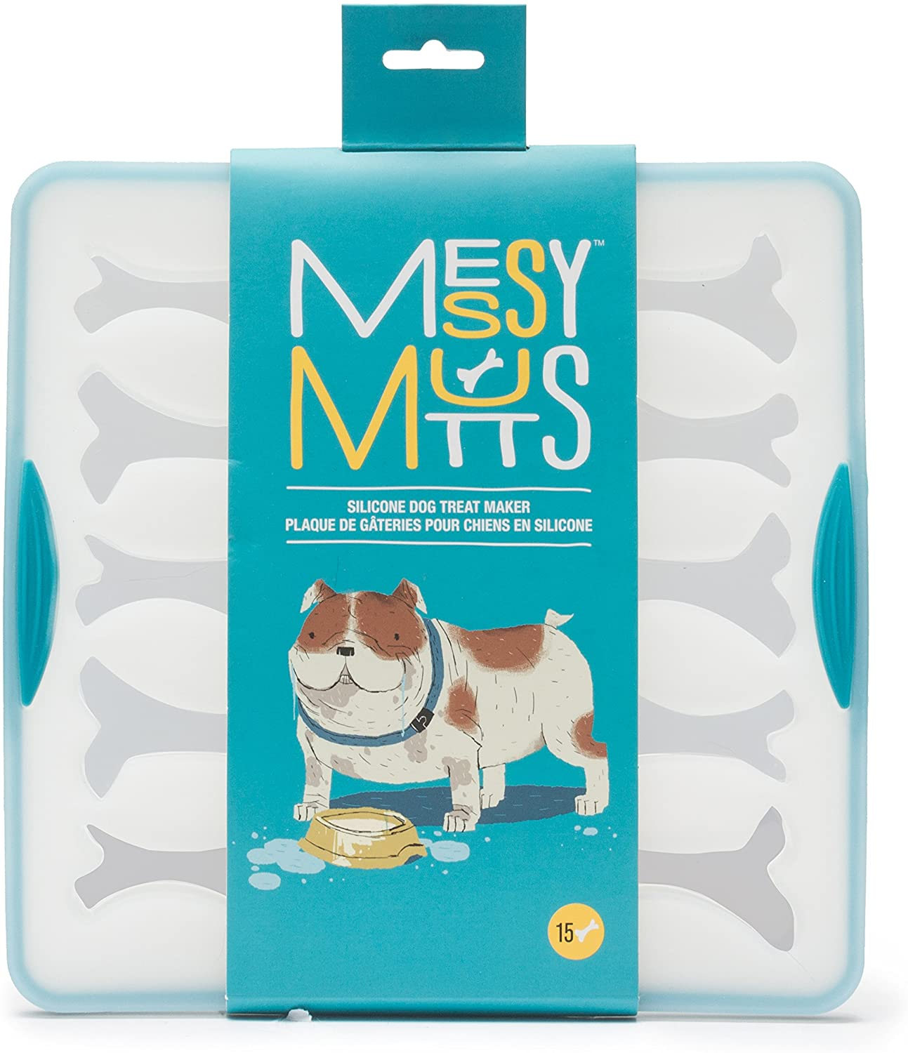 Messy Mutts Silicone Bake & Freeze Treat Maker, Large, 15-count