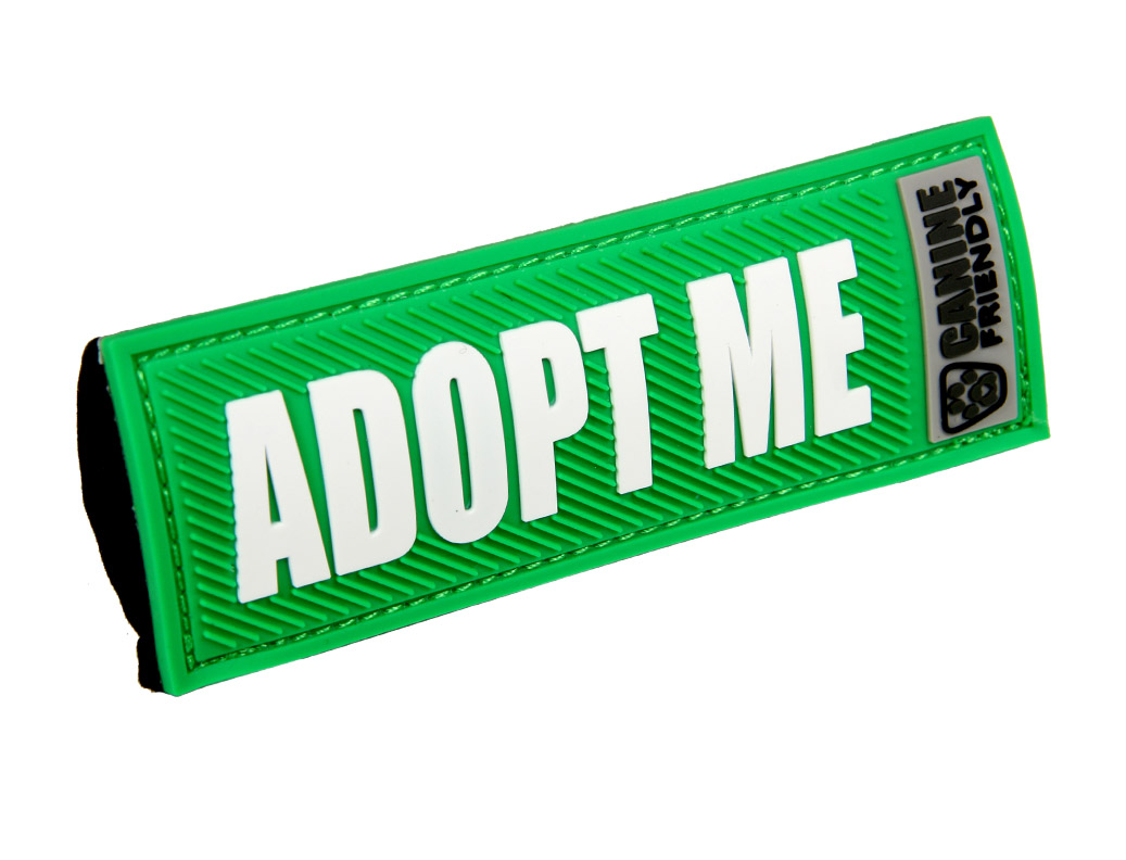 RC Pets Products Canine Friendly Bark Notes Adopt Me Dog Collar Tags, 1-in