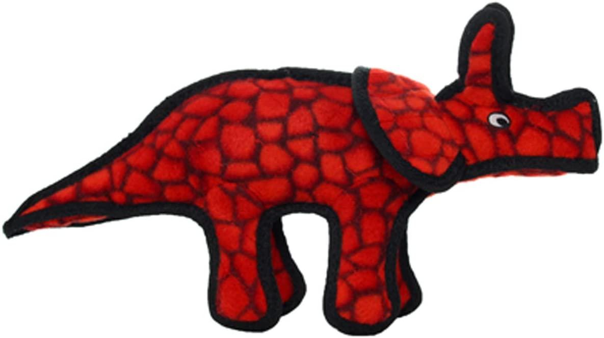 Tuffy's Dinosaur Triceratops Dog Toy, Junior