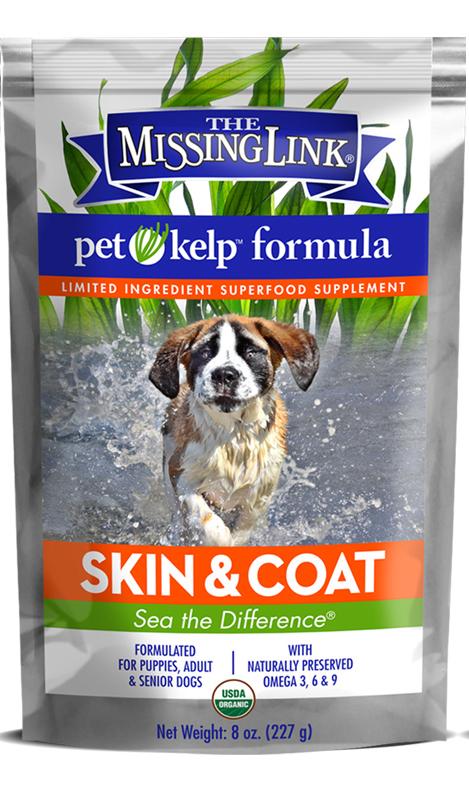 The Missing Link Pet Kelp Skin & Coat Supplement for Dogs, 8-oz