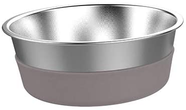 Messy Mutts Stainless Steel Heavy Gauge Non-Slip Dog Bowl, Small
