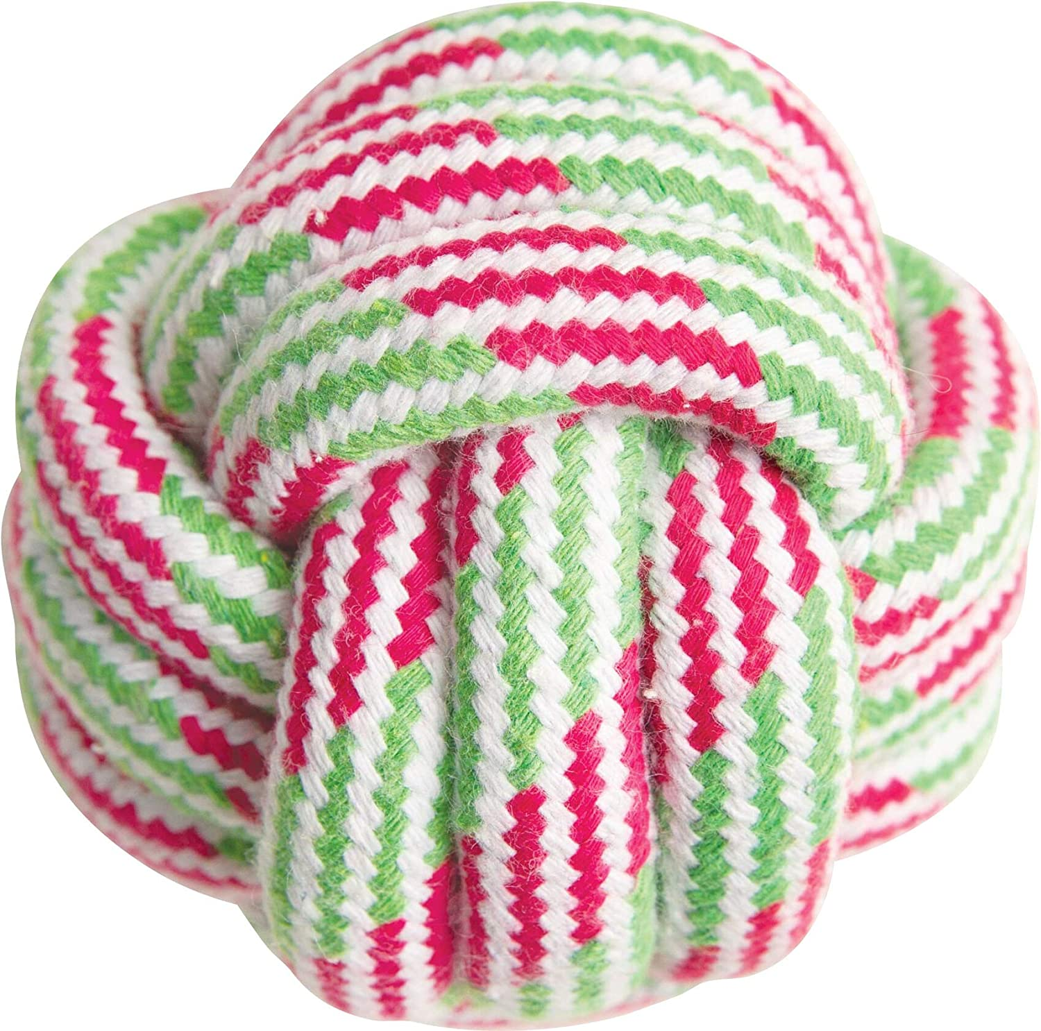 Snugarooz Snugz Knot Your Ball Dog Toy, Assorted Colors, 3.5-in