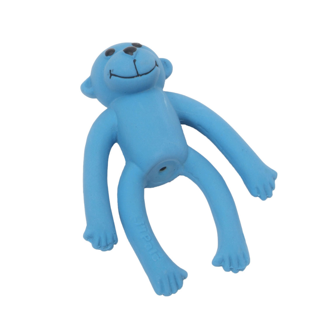 Li'l Pals Latex Monkey Dog Toy, Blue, 4-in