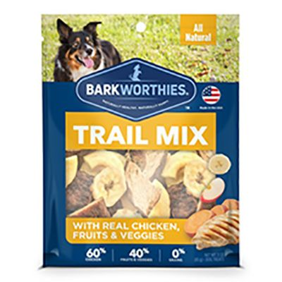 Barkworthies Trail Mix Real Chicken, Fruits & Veggies Dog Treats, 3-oz (Size: 3-oz) Image