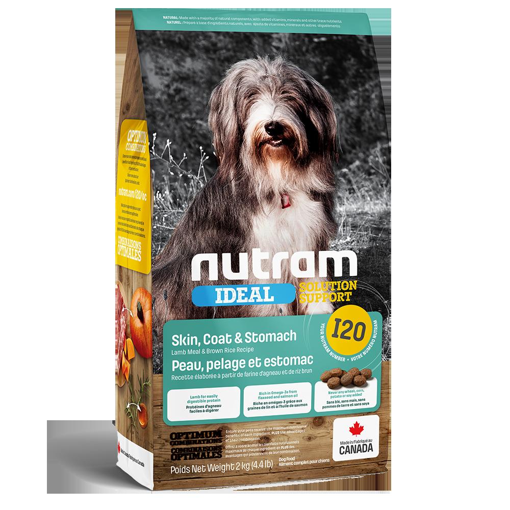 Nutram Ideal I20 Solution Support Skin, Coat & Stomach Dog Food, 2-kg