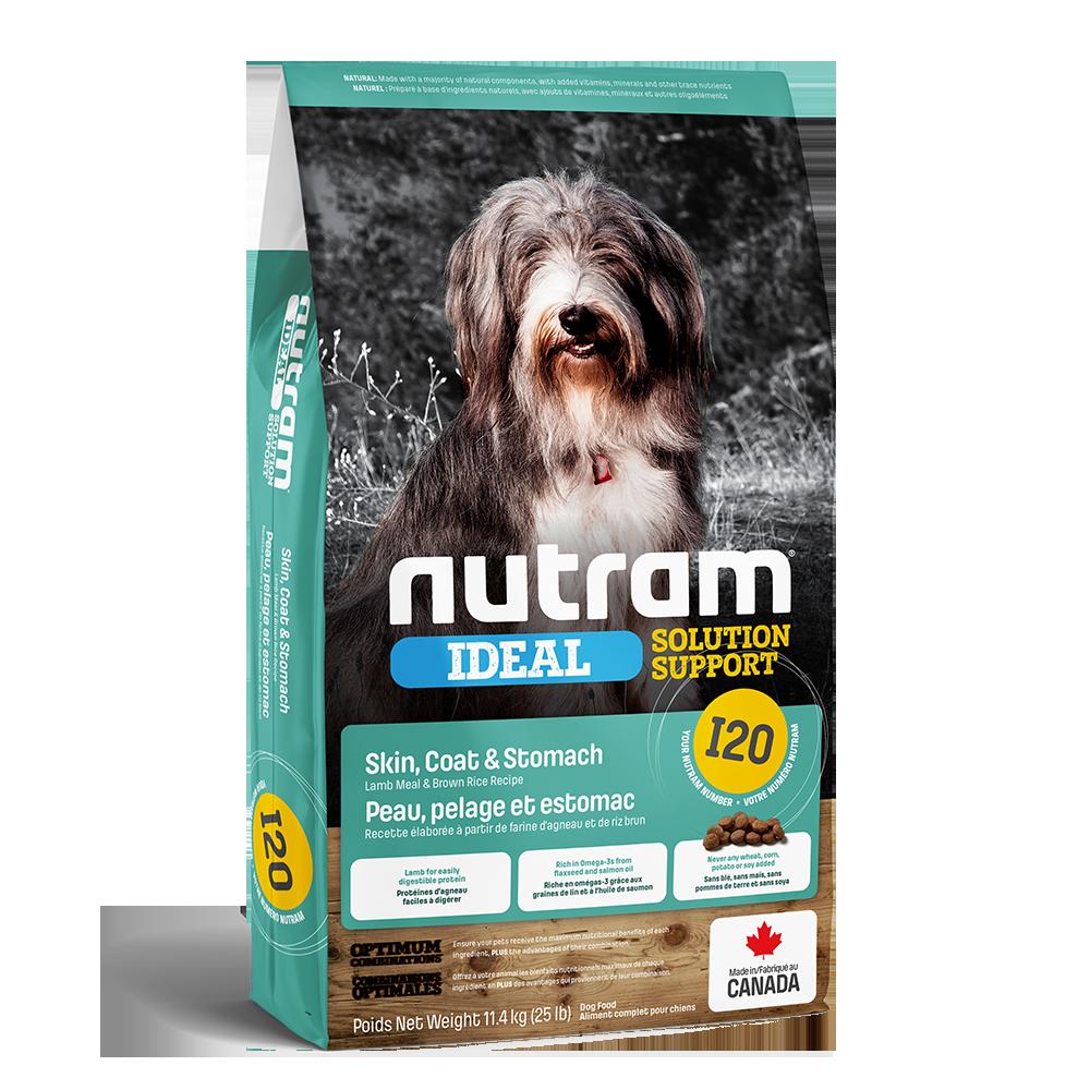 Nutram Ideal I20 Solution Support Skin, Coat & Stomach Dog Food, 11.4-kg