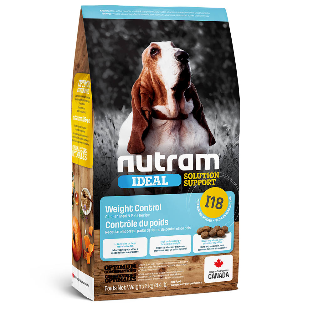 Nutram Ideal I18 Solution Support Weight Control Dog Food, 2-kg