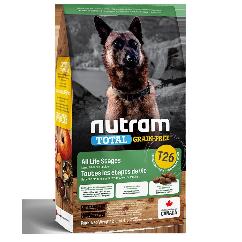 Nutram Total T26 Grain-Free Lamb & Lentils Dog Food, 2-kg