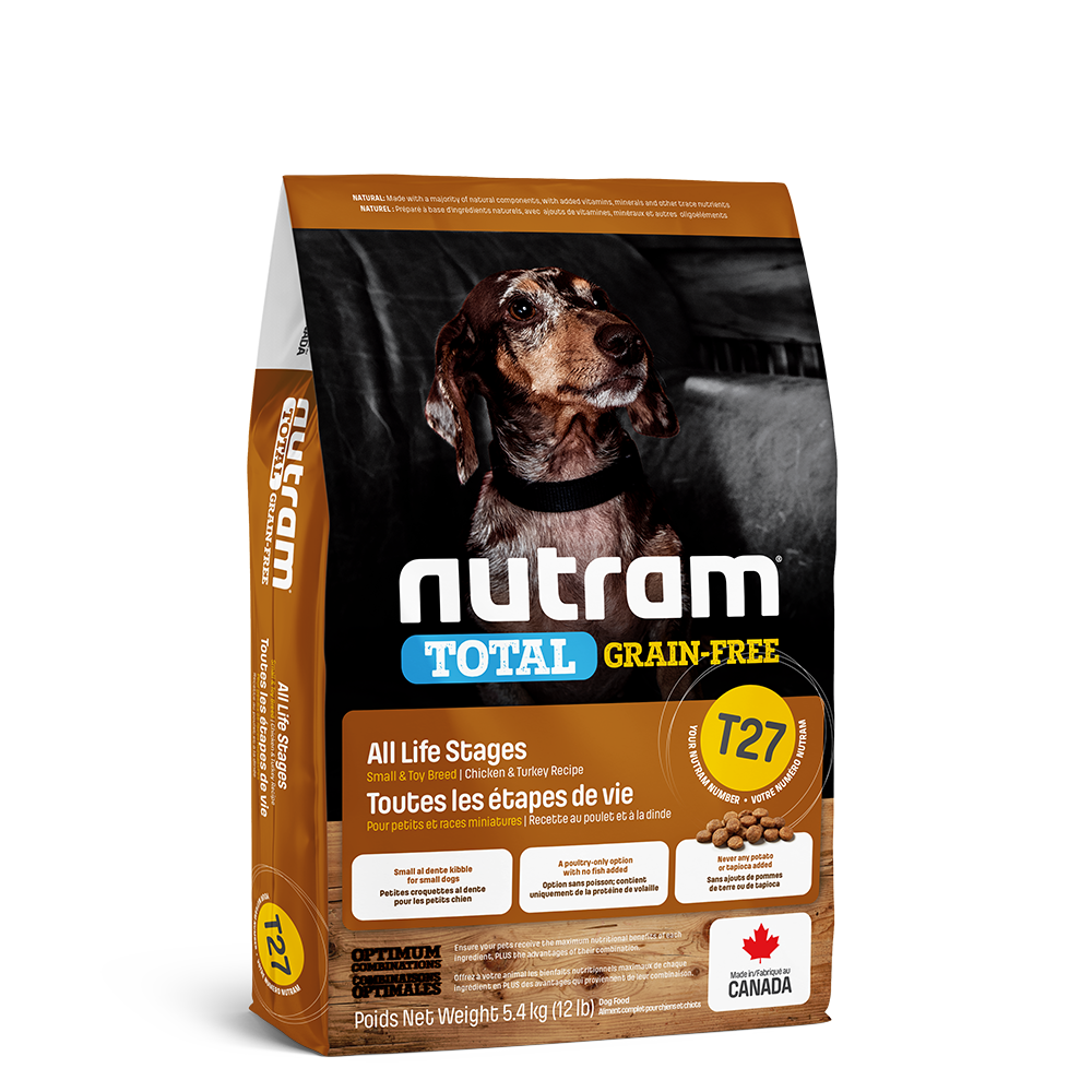 Nutram Total T27 Chicken & Turkey Grain-Free All Life Stages Dry Dog Food, 5.4-kg