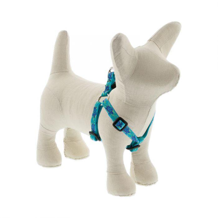 Lupine Pet Original Designs Step In Dog Harness, Turtle Reef, 1/2-in x 10-13-in