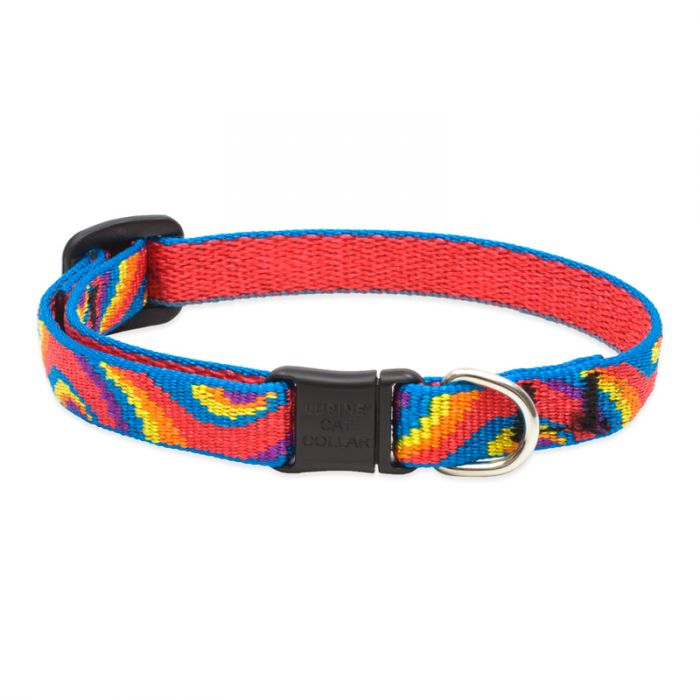 Lupine Pet Original Designs Safety without Bell Cat Collar, Lollipop, 1/2-in x 8-12-in