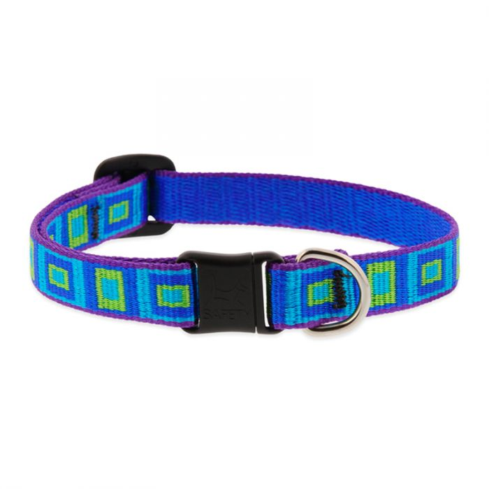 Lupine Pet Original Designs Safety without Bell Cat Collar, Sea Glass, 1/2-in x 8-12-in