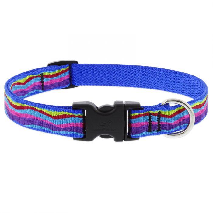 Lupine Pet Original Designs Adjustable Dog Collar, Ripple Creek, 3/4-in x 13-22-in