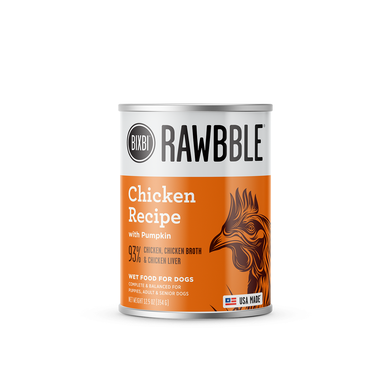 Bixbi Rawbble Chicken with Pumpkin Wet Dog Food, 12.5-oz, case of 12