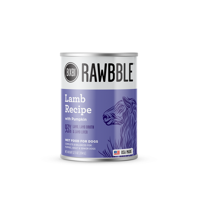 Bixbi Rawbble Lamb with Pumpkin Wet Dog Food, 12.5-oz, case of 12