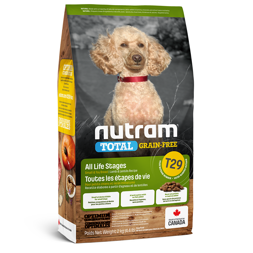 Nutram Total T29 Lamb & Lentils Grain-Free Small Breed Dry Dog Food, 2-kg