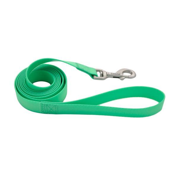 Pro Waterproof Dog Leash, Lime, 3/4-in x 6-ft