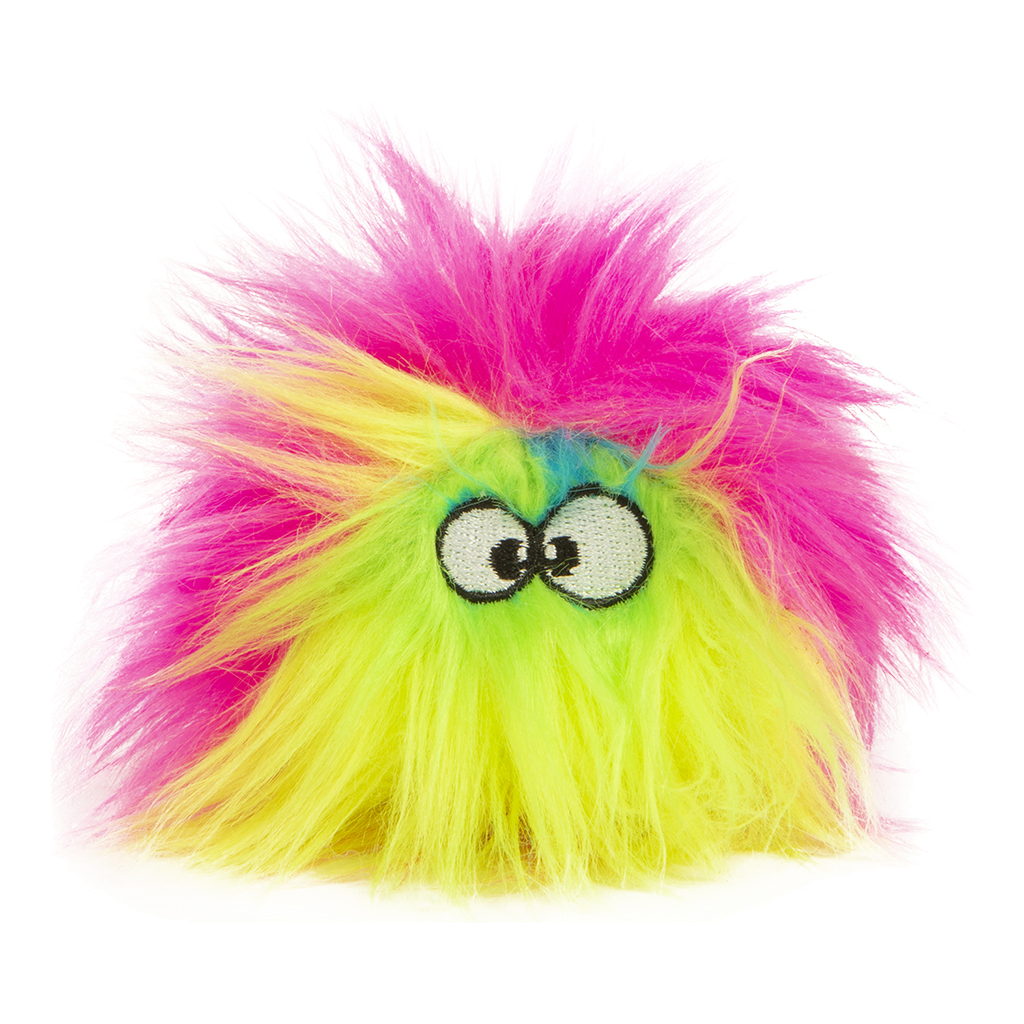 GoDog Furballz Just For Me Chew Guard Dog Toy, Rainbow Image
