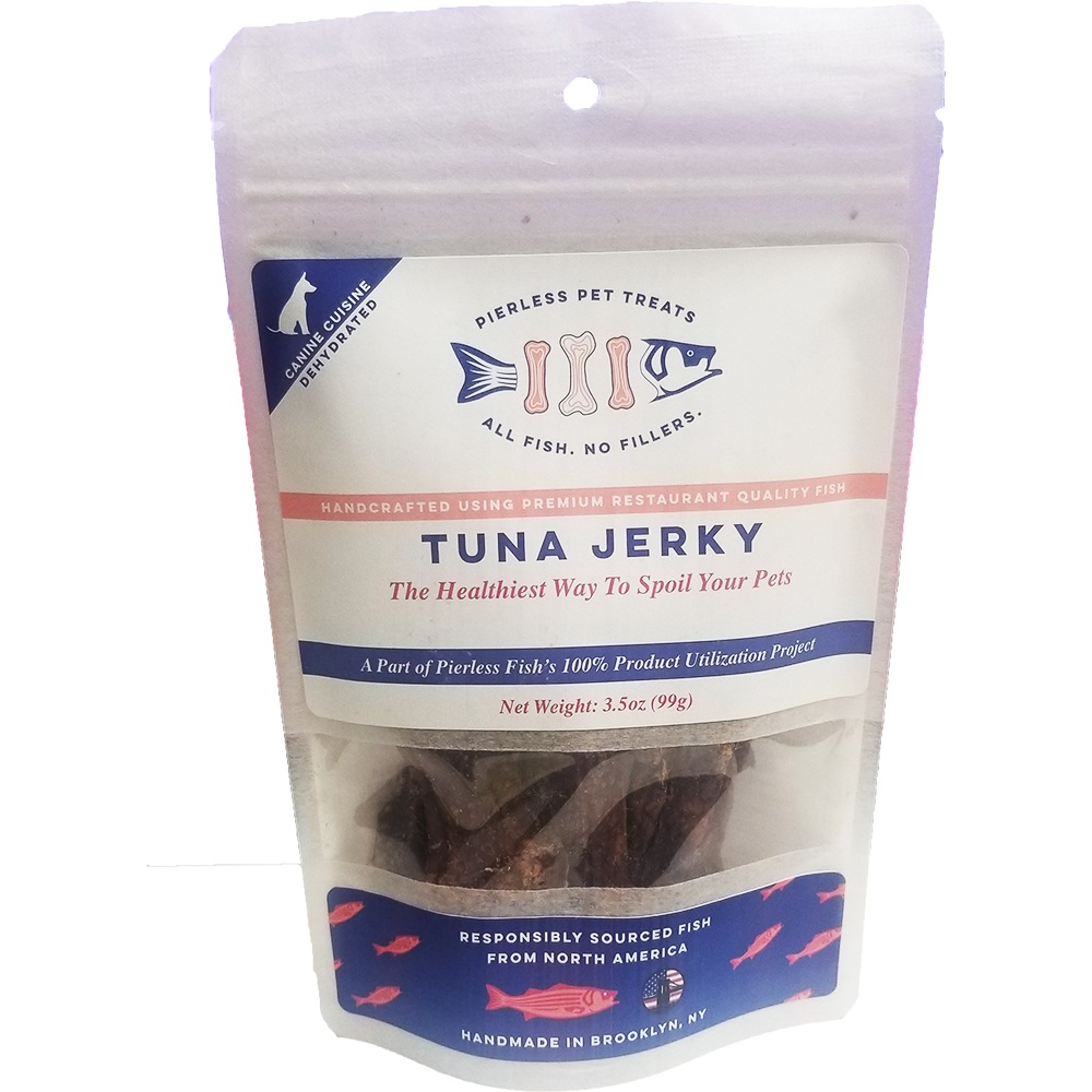 Pierless Pets Tuna Jerky Dog Treats, 3.5-oz